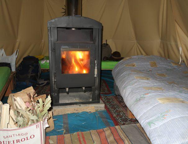 Tipi Indoor Chimney Sleeping